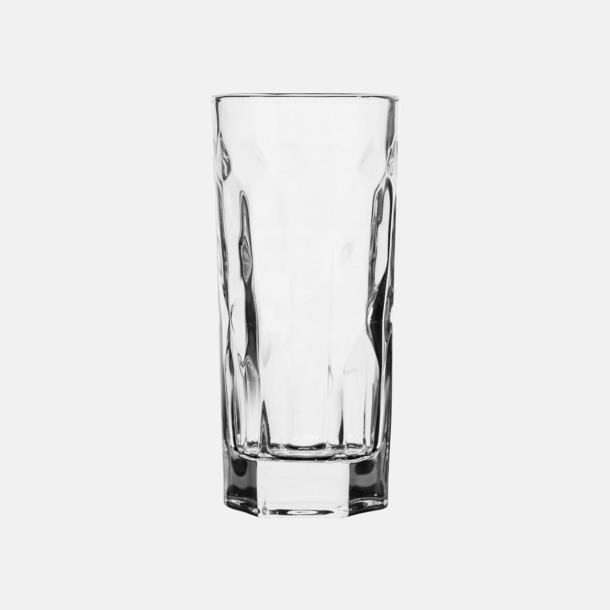 Transparent 2-pack höga whiskyglas från Sagaform med reklamtryck