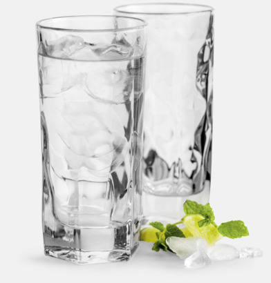 2-pack höga whiskyglas från Sagaform med reklamtryck