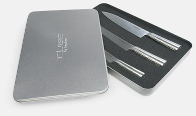 Silver 3 Edge-knivar från Sagaform med reklamtryck