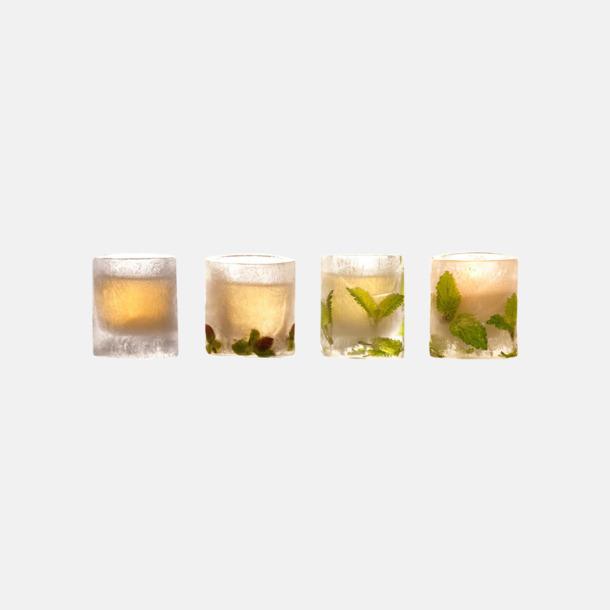 Gör egna glas av is med reklamtryck