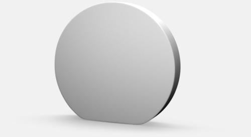 Vit grundfärg Cirkel mässvägg med eget reklamtryck