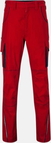 Röd / Marinblå Arbetsbyxor i många storlekar med reklamtryck