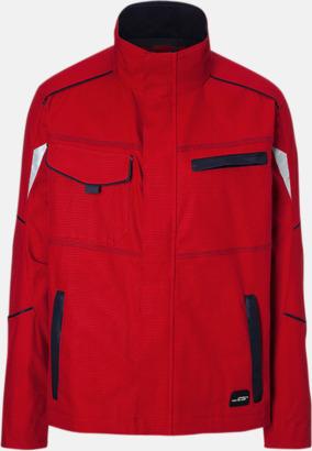 Röd / Marinblå Arbetsjackor i många storlekar med reklamtryck