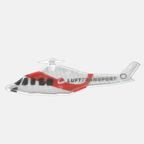 Prisklass 3 Helikopter Mjuka reflexer i 100 tals olika former med eget tryck