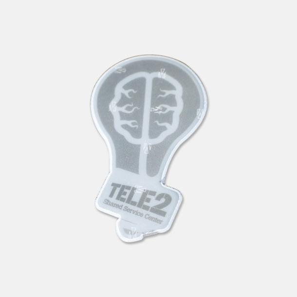 Prisgrupp 2 (Glödlampa) Reflexklisterlapp med reklamtryck