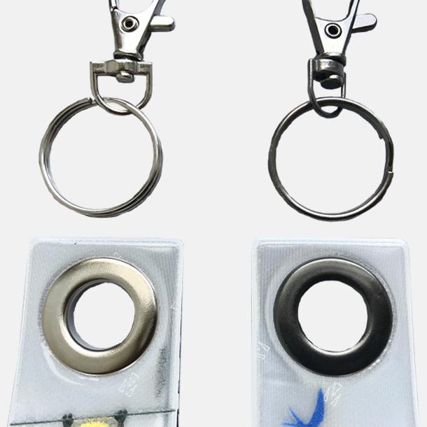 Silvrig kabinhake och ögla (ingår), Svart (se tillval) Mjuk reflex loop med eget rekalmtryck