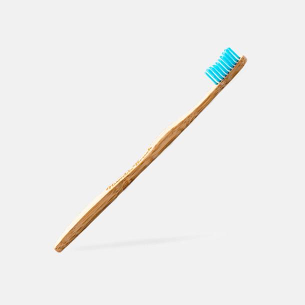 Blå borst (vuxen) Miljövänliga tandborstar i kartong med eget tryck