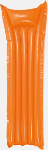 Orange Luftmadrass med tryck, egen logo eller reklamtryck