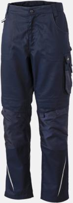 Marinblå Arbetsbyxor med reklamtryck