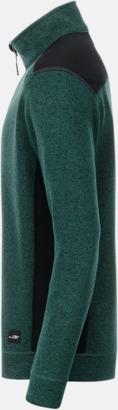 Arbets stickade fleecetröjor i herrmodell med reklamtryck