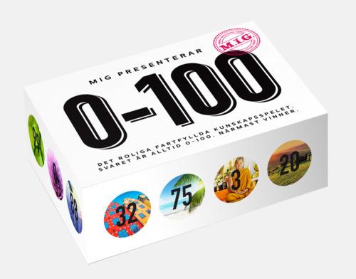0-100 (Big MIG) MIG sällskapsspel med eget tryck