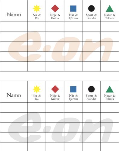 Tryck på block (ingår) MIG sällskapsspel med eget tryck