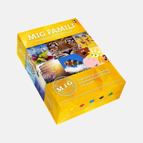 Familj Gul (Big MIG) Sällskapsspel från MIG med eget reklamtryck