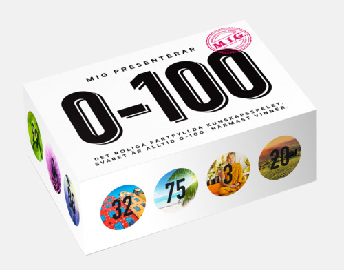 0-100 (Big MIG) Sällskapsspel från MIG med eget reklamtryck