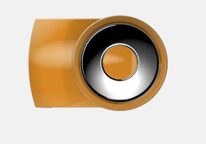 Caramel Vita bläckpennor med färgade tryckknappar med reklamtryck