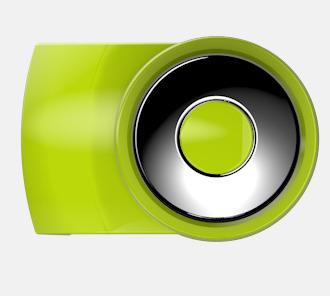 Ljusgrön Vita bläckpennor med färgade tryckknappar med reklamtryck