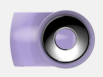 Light Violet Vita bläckpennor med färgade tryckknappar med reklamtryck