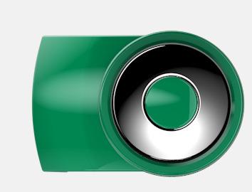Middle Green Vita bläckpennor med färgade tryckknappar med reklamtryck