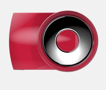 Röd Vita bläckpennor med färgade tryckknappar med reklamtryck