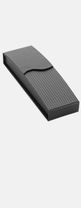 Magnetstängning svart (se tillval) Vita bläckpennor med färgade tryckknappar med reklamtryck