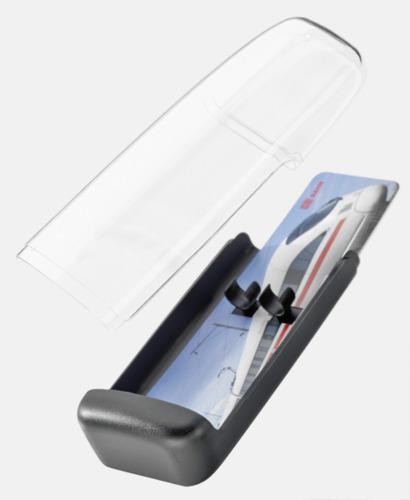 Plastfodral inlägg 2 (se tillval) Pennor med gemklips - med reklamtryck
