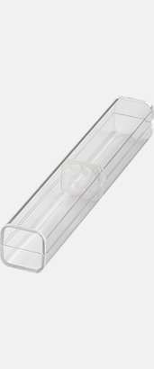 Enkelt plastfodral (se tillval) Pennor med större gemklips - med reklamtryck