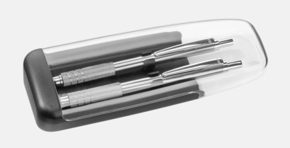 Plastfodral 2 (se tillval) Pennor med större gemklips - med reklamtryck