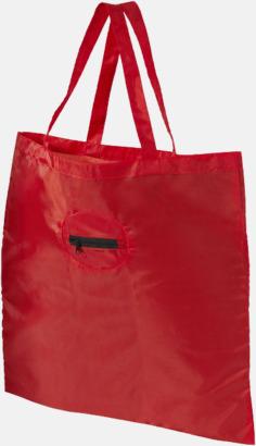 Röd Tygpåsar som får plats på nyckelringen - med reklamtryck