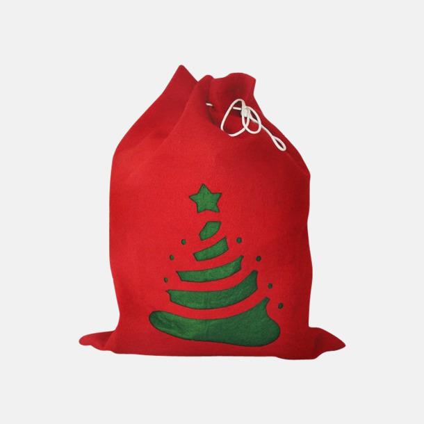 Röd / Grön Tomma julsäckar med reklamtryck