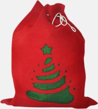Tomma julsäckar med reklamtryck