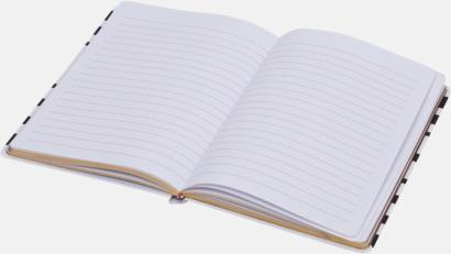 Anteckningsböcker med randiga omslag med reklamtryck