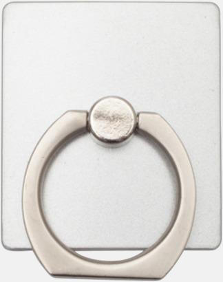 Silver Hållare och ställ för mobilen - med reklamlogo