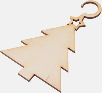 Julgran Julgranshängare i trä med reklamtryck