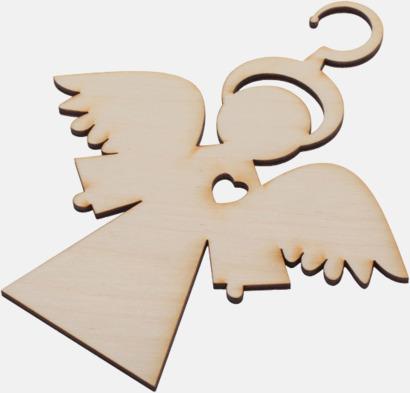 Ängel med hjärta Julgranshängare i trä med reklamtryck