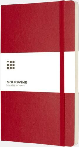 Röd (plain) Moleskine mjuka notisböcker i 3 utföranden med reklamtryck