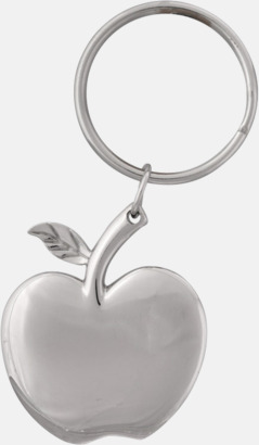 Äppelformade nyckelringar med lasergravyr