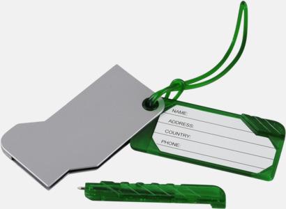 Bagagebricka med bläckpenna - med reklamtryck