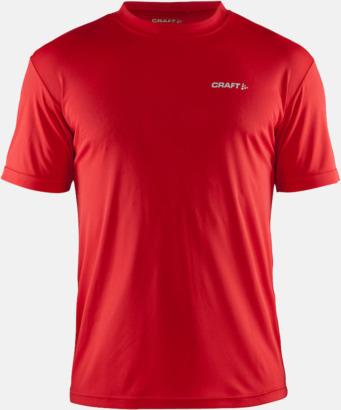 Bright Red (Herr) Funktion t-shirts från Craft med reklamtryck