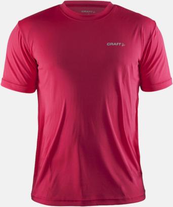 Russian Red (Herr) Funktion t-shirts från Craft med reklamtryck