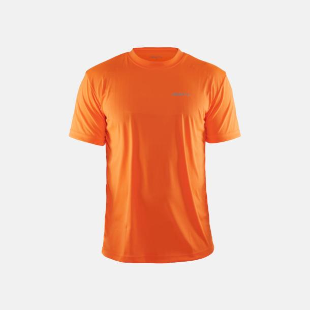 Flourange (Herr) Funktion t-shirts från Craft med reklamtryck