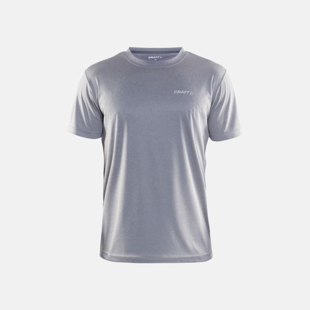 Grey Melange (Herr) Funktion t-shirts från Craft med reklamtryck