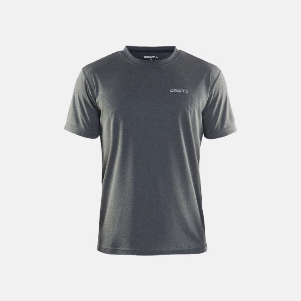 Dark Melange (Herr) Funktion t-shirts från Craft med reklamtryck