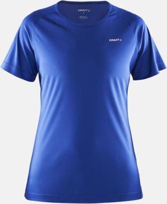 Cobolt (dam) Funktion t-shirts från Craft med reklamtryck