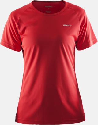 Bright Red (dam) Funktion t-shirts från Craft med reklamtryck