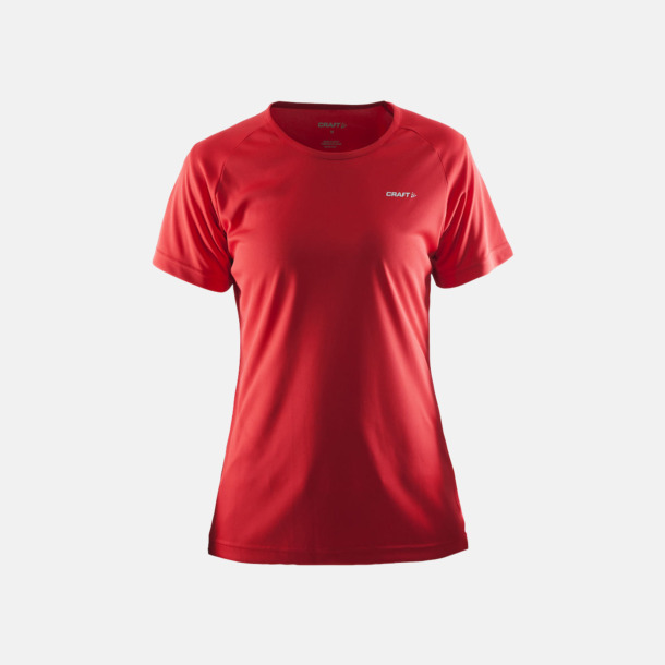 Bright Red (dam) Funktion t-shirts från Craft med reklamtryck