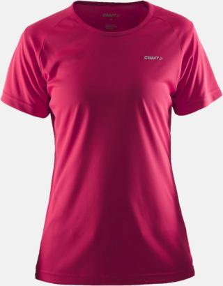 Russian Rose (dam) Funktion t-shirts från Craft med reklamtryck