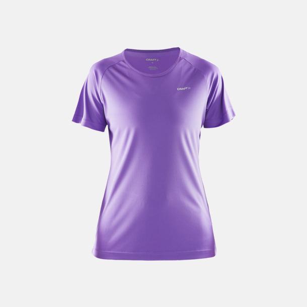 Lilac (dam) Funktion t-shirts från Craft med reklamtryck