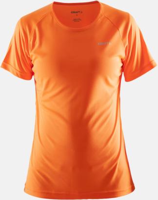 Flourange (dam) Funktion t-shirts från Craft med reklamtryck