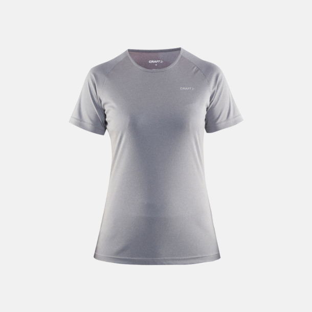 Grey Melange (dam) Funktion t-shirts från Craft med reklamtryck
