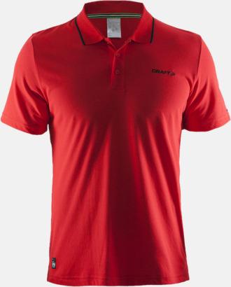 Bright Red Herr (Logga bröst) Pikétröjor från Craft i herr- och dammodell med reklamtryck